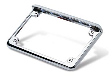 6 inch cast aluminum chrome motorcycle frame with 6 white LEDs built in.